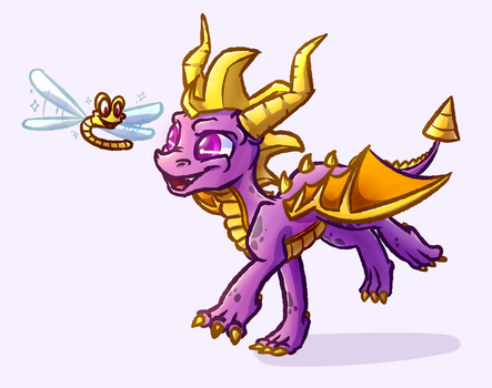 Spyro and Sparx by WitchTaunter
