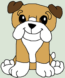 webkinz bulldog drawing by lpscat123