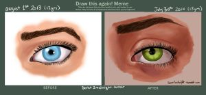Eye Practice Before and After by ReadLikeMad