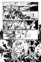 Aquaman Page 2 inks by Fendiin