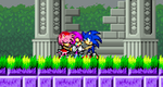After the fight of Dark Super Fleetway Sonic by BeeWinter55