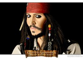 Captain Jack Sparrow by pixellorac