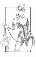 Arkham Catwoman Pencils by ColletteTurner