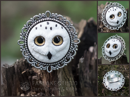 white owl ring - for sale by JarviTiralin
