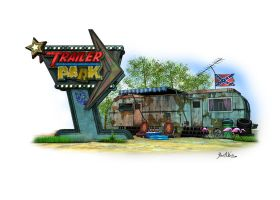 Trailer Park - Rock Band Logo and Backdrop by JWraith