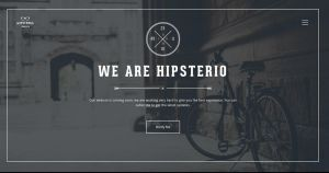 Hipsterio Coming Soon Template by Itembridge
