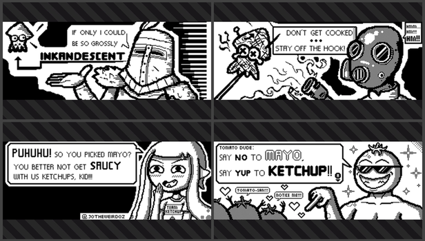 Splatoon 2 mailbox drawings. by JoTheWeirdo