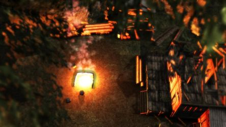 Forest camp scene MMD download by Stylc