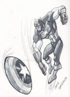 CaptainAmerica GrayScale by Stnk13