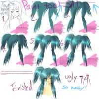 How i draw hair in Paint tool by Taez