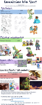 Commission Price Sheet (OPEN) by CrazyIguana