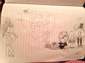 Just Gold cover art by ShadAmyfangirl129