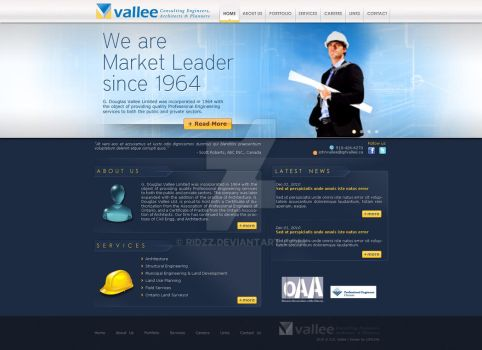 Homepage of GDvallee by ridzz