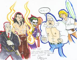 Epic battle for Mark Hamill by BD-Ghis