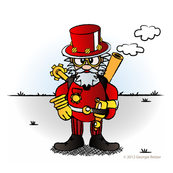 Steamy Santa by IllustratorG