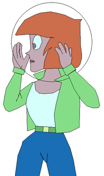 Agent Heather putting on her Space Helmet by GuiherCharly