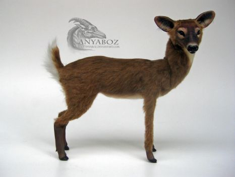 White Tailed Doe Room Guardian by AnyaBoz