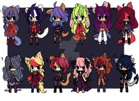 adoptable batch 4  (2left) by Chicu-lilla