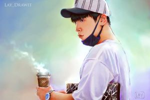 Coffee. (Himchan) by LayDrawings