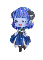 Chibi Jester by CountessDeCreppe