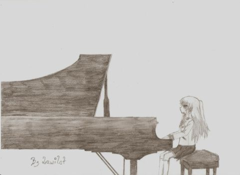 Kanade with piano by Lawilet by lawilet1992