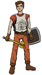 Dungeons and Dragons Fighter: Curtis by DeathbyChiasmus