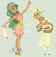 Angelia And Pan by MaliceInTheAbyss