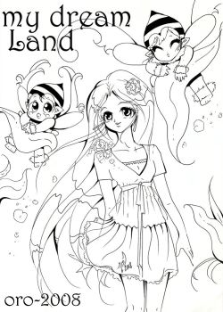 colouring page 4 MY DREAM LAND by orjoowan-art