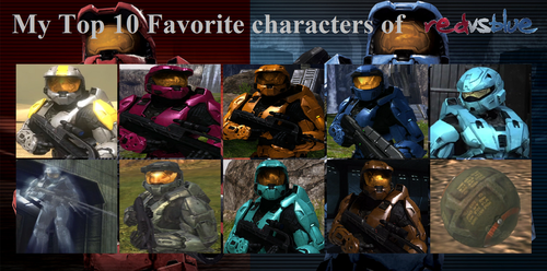 My Top 10 Favorite RvB characters by BeeWinter55