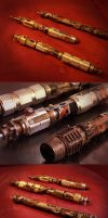 Steampunk Light Saber Group by pinochioO-5