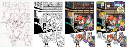 Sonic 280 Page 1 Pencils to Colors by chibi-jen-hen