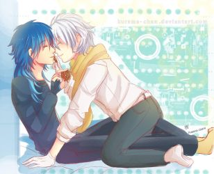 -- Aoba x Clear fanfic cover -- by Kurama-chan