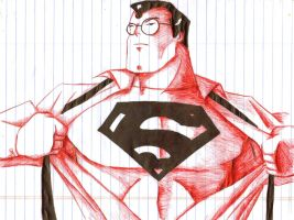 Office Sketch Superman by PDInk