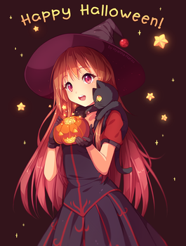 [+Video] Commission - Happy Halloween! by Hyanna-Natsu