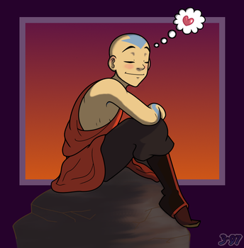 Aang - Happy Thoughts by crusanite