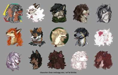 SoSuWriMo 2018 Avatar Batch by Kiriska