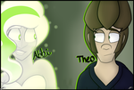 Ask Abbi and Theo Banner -Link Below- by CosmicChrissy