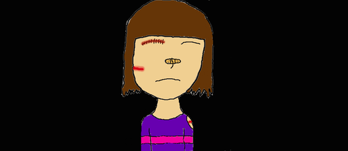 InjuredTale! Frisk (first attemt) by DarknessSlender