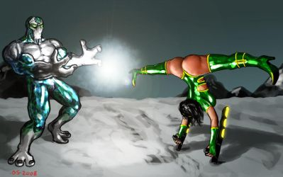 Glacius vs Orchid by osx-mkx