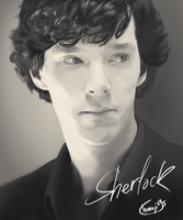 Thinking Sherlock by Momiji95