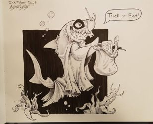 InkTober Day 6- Ghost Shark by Atropicus