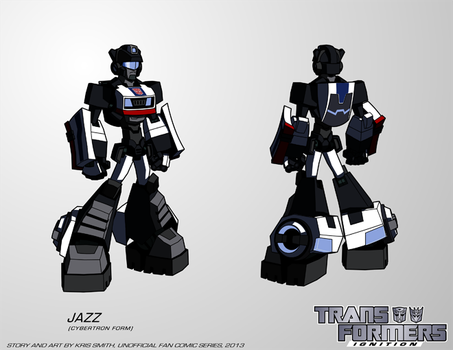 TF:Ignition - Jazz (Cybertron Robot Mode) by KrisSmithDW