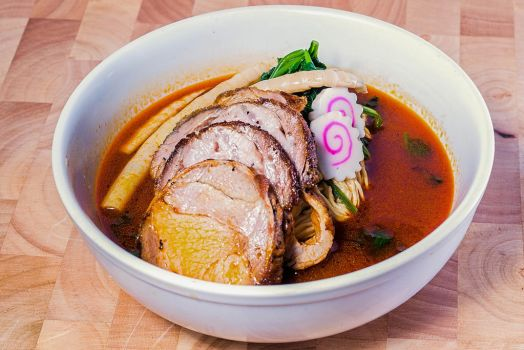Spicy Miso Ramen noodle with pork belly by MinhVisual