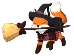 Witch Fox by Foxhatart