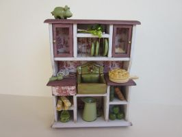 Miniature Rustic Green Kitchen by AnaCorreia33