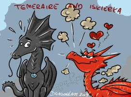 Temeraire and Iskierka by Eva-the-DragonLady