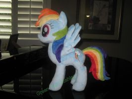 Rainbow Dash Plush Commission by GreenTeaCreations