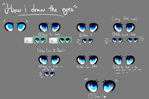 [How i do the eyes] (kinda tutorial???) by HuiRou