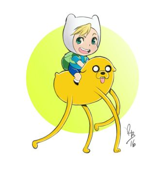 Chibi Finn and Jake Adventure Time by lince