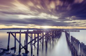 Sunset in the old dock by streamweb